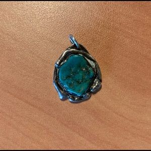 Blue stone set in Silver